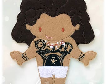 Demigod Maui Felt Paper Doll Toy Digital Design File - Husky