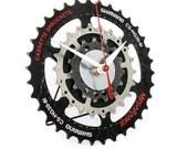 Bike desk Clock, Bicycle Gear Clock, Bicycle table Clock, Steampunk clock , Bike Parts Clock, Cycling Gift, Gear Clock