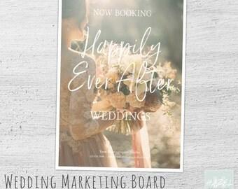 Wedding Marketing Template, Photoshop, Bridal Mini Session Template, Wedding Photography Marketing, Photography Marketing Board, Now Booking