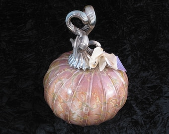 Big Granite Industrial Hand Blown Glass Pumpkin I142