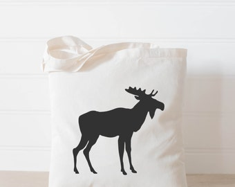 Moose Tote Bag, present, housewarming gift, wedding favor, bridesmaid gift, women's gift