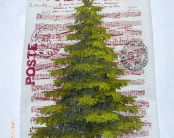 Joyeux Noel Towel - Flour Sack Towel - Christmas towel - Kitchen towel - Hostess Gift - dish towel - 100% cotton - Tea Towels