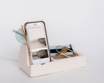 STAK Phone Dock Valet, White