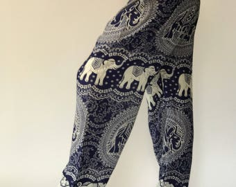 SM0116 Elephant Pants Genie Pants Boho Pants Gypsy Pants Rayon Pants Thai lady pants woman fashion solf and comfy