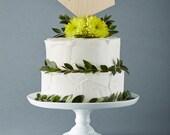 CUSTOM Geometric Wedding Cake Topper - Lasercut Birch