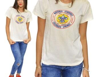 Vintage 60s Boy Scouts of America National Jamboree Colorado Springs T Shirt
