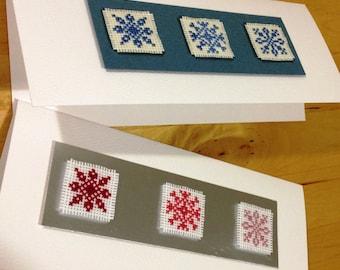 Handmade Christmas Card: Snowflake designs