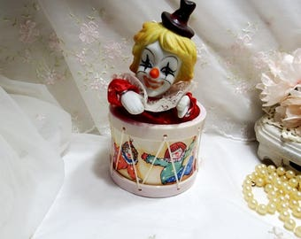 Clown Wind Up Music Box, Animated, Tune Send in the Clowns