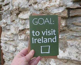 Ireland card, Motivation cards, Irish inspiration, visit Ireland, vision board
