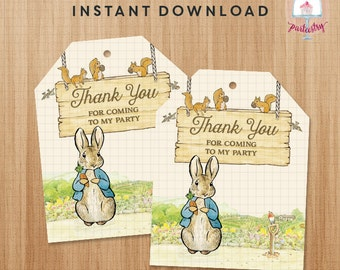 Peter Rabbit Thank You / Party / Favor / Tag - Printable Thank You Tag
