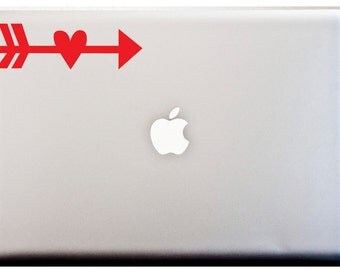 LOVE ARROW Cupid Valentines Day Arrow Putti Love Laptop Vinyl Decal Car Decal Window Decal