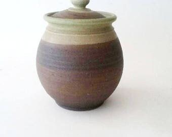 Hand Crafted Ceramic Jar with Lid