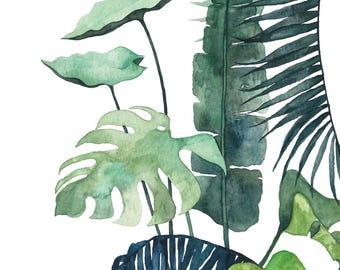 Postcard Botanical #03, Illustrated Postcard, Watercolor