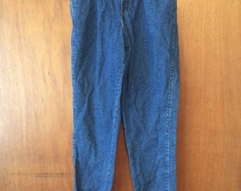 Vintage Women's Chic Pleated Mom Jeans High Waist Tapered Leg 10 Tall