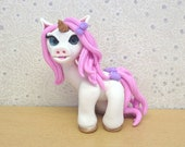 Polymer Clay Unicorn Collectible Sculpture - Irini