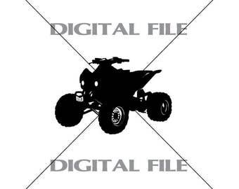 4 Wheeler ATV Vector Images Vinyl Decal T-shirt Digital Cutting Files ,Svg File, Ai, Eps, PNG, A2