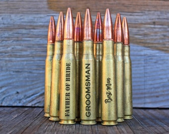 10 Vintage 50 Caliber Bullet Bottle Openers. Wedding Party Gift. Best Man Gift. Father of the Bride. Father of the Groom. Groomsmen Gift