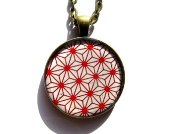 Geometric Necklace red - Minimalist Necklace - Prism Necklace - Bib Necklace - Gifts for Her - Birthday Gift - White - Geometric Jewelry