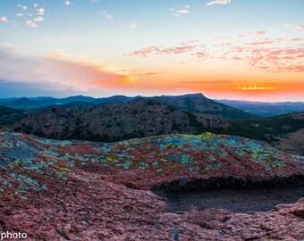 Red Rock Sunset Landscape Photograph