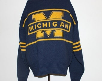 Vintage Michigan Wolverines Cliff Engle NCAA Sweater L