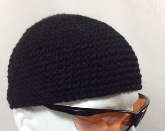 Black Beanie Hat Skullcap Custom Beanies Crochet Skater Cap Cancer Caps for men more colors available