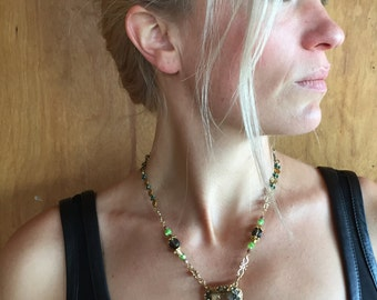 Jeweled Triangle Necklace