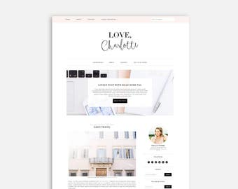 Premium Feminine WordPress Theme - Responsive - Love Charlotte - Genesis Child Theme - Feminine Blog Design - Fashion Blog Design