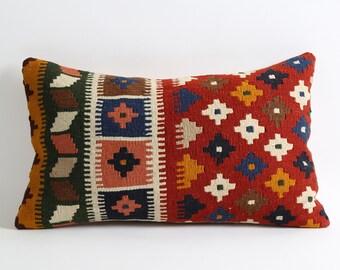 12x20 handwoven pillow cover, handwoven, decorative pillow, pillow, home decor, turkish pillow, woven pillow, kilim pillow, throw pillow