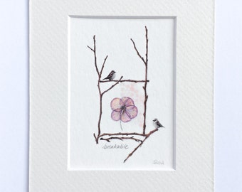 ACEO giclee print with mat frame