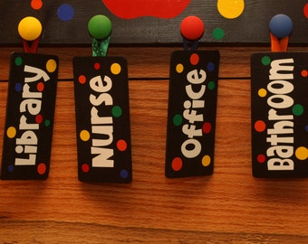 Wooden Hall Pass Tags ONLY