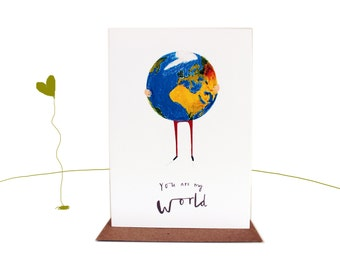 You are my world greetings card