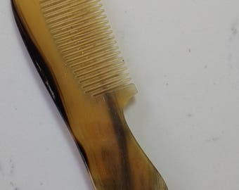 Handbag size Horn Comb - New/Old stock - FREE POSTAGE