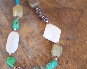 Versatile Multi-stone Statement Necklace