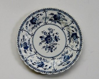 Johnson Bros Indies Pattern Blue and White Bread Plate