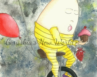 NEW - Special Delivery Part One - Salted Watercolor, Print, Humpty Dumpty