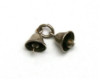 Double Wedding Bell Bracelet Charm Sterling Silver