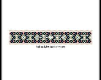 Peyote Patterns - Beading Patterns - Geometric Peyote Pattern - Bracelet Tutorial - Beading Tutorial - Peyote Beading Pattern - JUNIPER