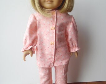 American Girl Peach Flannel Pajamas