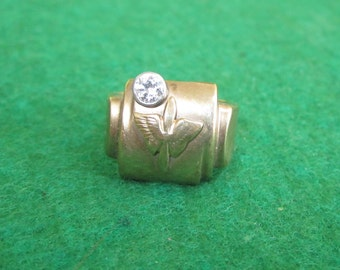 Original 1940's WW II US Army Air Forces Aviator Pilot 10kt Diamond Remembrance Ring - Free Shipping