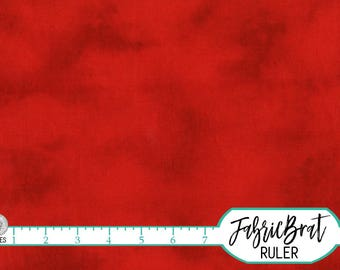 ALMOST SOLID RED Fabric by the Yard, Fat Quarter Red Blender Fabric Bright Red Fabric 100% Cotton Fabric Quilting Fabric Apparel Fabric w5-3