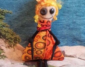 Voodoo Doll, Goth Doll, Monster Doll, Handmade OOAK Doll, Ugly Doll, Art Doll, Dark Rag Doll