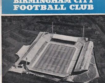 Vintage Football (soccer) Programme - Birmingham City v West Ham United, 1961/62 season