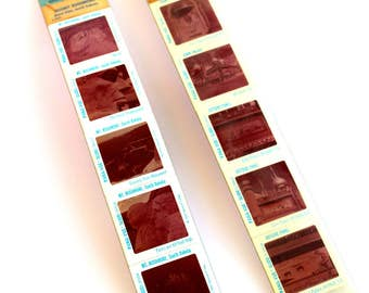 Vintage Pana-Vue Slides from Mt. Rushmore and Corn Palace Mitchell, SD