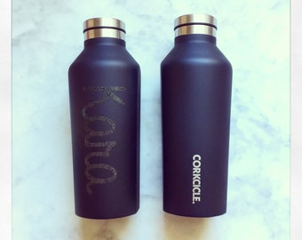Personalized Corkcicle 9oz Canteen {matte black}