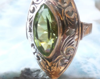 Peridot and Sterling Silver Ring.....size 4.5 only