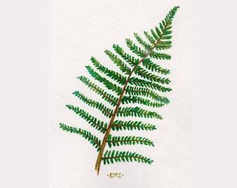 Fern Leaf - Original Watercolour Illustration