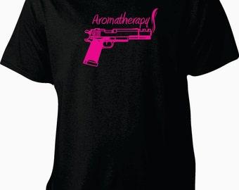 Aromatherapy gun shirt, gun shirt, handgun shirt, aromatherapy shirt, southern shirt, country shirt, southern girl shirt, up to 5xl