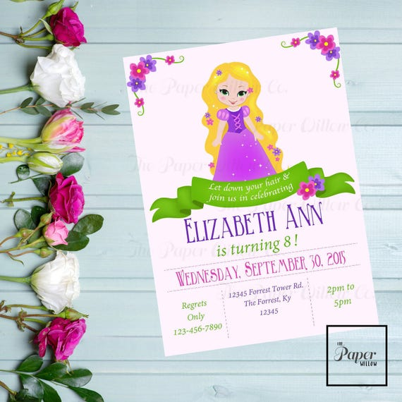A tangled birthday invitation rapunzel editable instant download il570xn filmwisefo