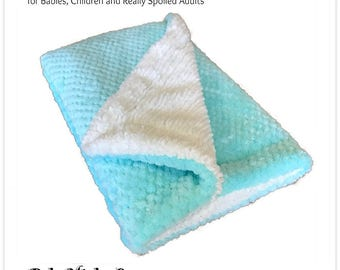 Worlds Softest Minky Cuddle Fur Blanket - Reversible - Mint Green and White  Minky Cuddle Fur All Sizes and Colors