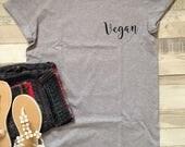 Vegan Pocket Print on Unisex Tshirt